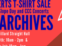 Cornell Concert Archives: our vintage concert t-shirt sale!