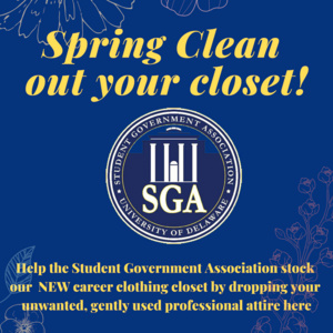 SGA Career Clothing closet donation drive