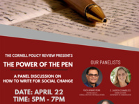 The Cornell Policy Review Presents: The Power Of The Pen