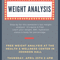 Weight Analysis Thurs 4/25/19 2-4pm | Dining Services
