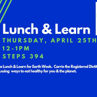 Sustainable Lunch & Learn 4/25/19 12-1pm | Dining Services