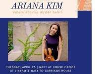 Bethe House 04.23.19 HF Ariana Kim violin recital with GRF David