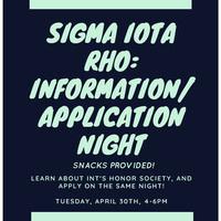 Sigma Iota Rho Application Night