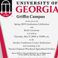 UGA Griffin Campus Graduation Celebration and Brick Ceremony