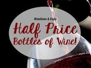 Half Price Bottles of Wine Thursdays