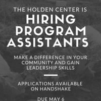 Holden Center Job Applications Open