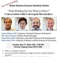 """""""What Problem Do You Want to Solve?"""" Conversation with Convergent Researchers"""