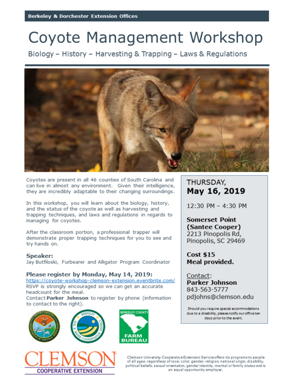 Coyote Management Workshop