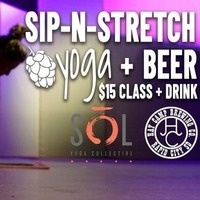 Sip-N-Stretch Yoga
