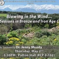 """Dr. Jenny Moody, UT Austin: """"Blowing in the Wind…The Seasons in Bronze and Iron Age Crete"""""""