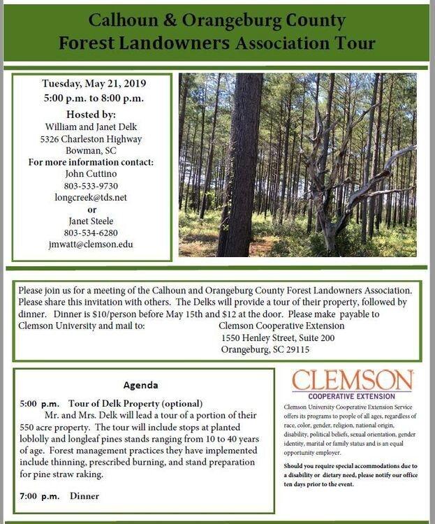 Calhoun & Orangeburg County Forest Landowners Assoc Tour