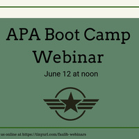 APA Boot Camp Webinar